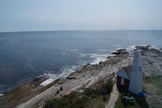 Muscongus Bay - The southwest tip of Muscongus Bay at the Pemaquid Point Lighthouse