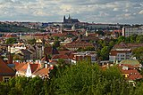 View of Prague and St. Vitus Cathedral from Vyšehrad. Czech Republic.jpg