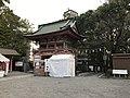 View of Romon Gate of Kitaoka Shrine from inner side.jpg