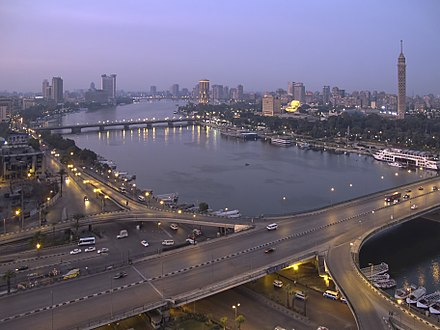 View of the 6th October Bridge and the Cairo skyline. View of the Nile from Hilton.jpg