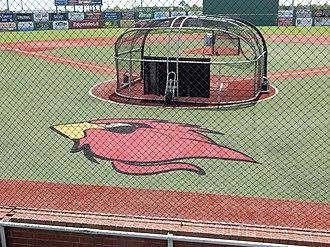 Vincent–Beck Stadium - Image: Vincent Beck Stadium infield and batter's cage