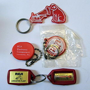 Promotional merchandise - Branded, promotional key chains given out by RCA