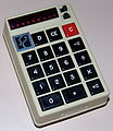 Vintage Summit Electronic Pocket Calculator, Model Ko9V, Red LED Display, Sealed Battery, Boxy Shape, Made In USA, Circa 1972 (15288739362).jpg