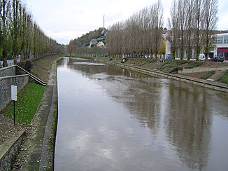 Der Fluss in Saint-Lô