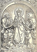 Virgin with Carthusian monks by Albrecht Dürer.jpg