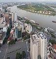 Vista de Ciudad Ho Chi Minh desde Bitexco Financial Tower, Vietnam, 2013-08-14, DD 07.JPG