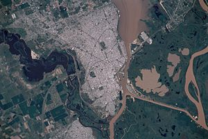 Vista satelital santa fe