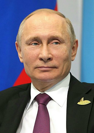 Supreme Commander-in-Chief of the Russian Armed Forces - Image: Vladimir Putin (2017 07 08) (cropped)