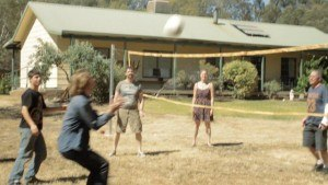 Cornerstone Community - Some first year students playing volleyball in 2013