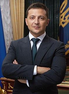 Volodymyr Zelensky 6th President of Ukraine since 2019, former actor, director and film producer