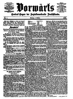 <i>Vorwärts</i> periodical literature