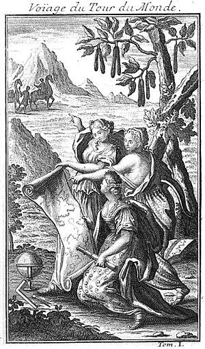"Giovanni Francesco Gemelli Careri - Title image taken from a French translation of the book: ""Voyage du Tour du Monde"""