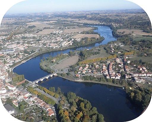 Vue d'avion - Cazères sur Garonne