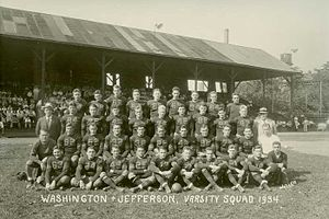 Washington & Jefferson Presidents football - 1934 team