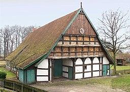 Norddeutsches Bauernhausmuseum Wöhler Dusche Hof in Isernhagen. Das Haus ist ein Zweiständer-Hallenhaus.