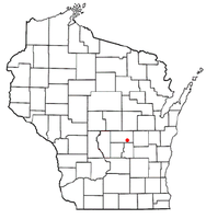 Location of Warren, Waushara County, Wisconsin
