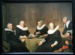 Johannes Cornelisz Verspronck: Group portrait of the regentesses of the Heilige Geesthuis in Haarlem