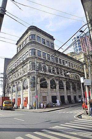 El Hogar Filipino Building - The building in 2011.