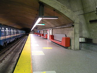 Montreal Metro - Radisson station on Line 1 (Green Line).