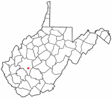 Location of East Bank, West Virginia