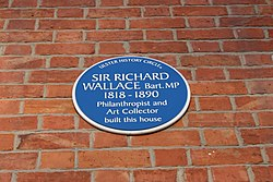 Photo of Richard Wallace blue plaque
