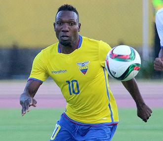 Walter Ayoví - Ayoví playing for Ecuador in 2015