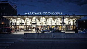 Warszawa Wschodnia railway station - Image: Warszawa Wschodnia radek kołakowski