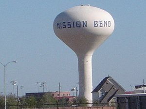 Mission Bend, Texas - A Mission Bend water tower