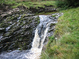 Burn (landform) - Image: Waterfall, Usway Burn geograph.org.uk 1561467