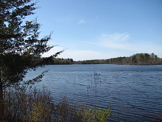 Area of Critical Environmental Concern (Massachusetts) - Image: Watson Pond, North Taunton MA