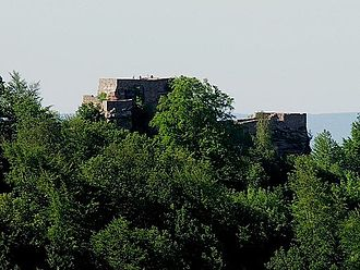 Wegelnburg - Remains of the Wegelnburg