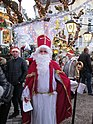 A man dressed as Saint Nicholas in Baden-Baden for Weihnachten celebrations