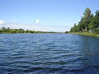 Welland Recreational Waterway - The Recreational Waterway north of the Townline Road plug.
