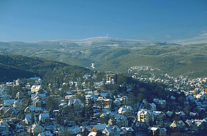 Wernigerode - Wernigerode and the Brocken in winter