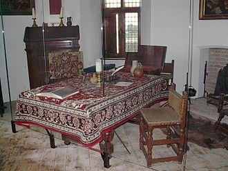 Pieter Corneliszoon Hooft - Working table of Pieter Corneliszoon Hooft