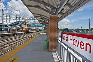 West Haven, CT, train station MTA photo.jpg
