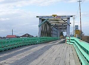Westham Island Bridge - Westham Island Bridge, looking northward.