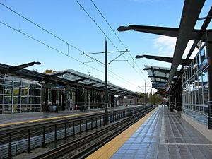 Mount Baker station - The northbound platform at Mount Baker station