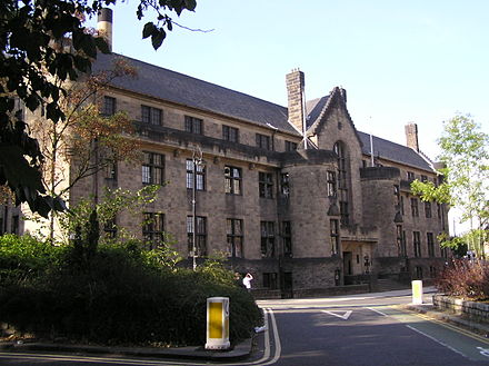 The Glasgow University Union's building at No. 32 University Avenue Wfm glasgow university union.jpg