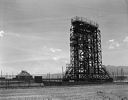 White Sands Missile Range, V-2 Rocket Facilities, Near Headquarters Area, White Sands vicinity (Dona Ana County, New Mexico).jpg