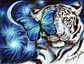 White Tiger and Butterfly Drawing by myself, Domonique Walden.jpg