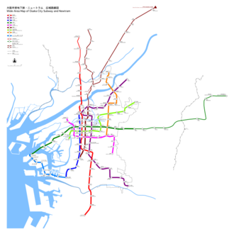 Osaka Municipal Subway - Map of Osaka Municipal Subway