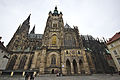 Wide view of the south facade of St. Vitus Cathedral, 2014-03-06.jpg
