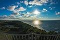 Widok z latarni morskiej Niechorze w kierunku zachodnim.jpg