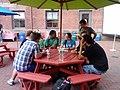 Wikimedians discussing on July 5 evening meet-up 1.jpg
