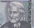Wilhelm Storost (Vilius Storostas-Vydūnas) on 200 LTL banknote.png