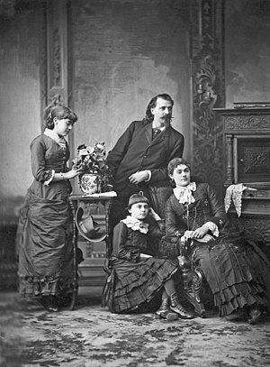Louisa Frederici - William F. Cody and his wife, Louisa, and their daughter, Orra (C. 1882).