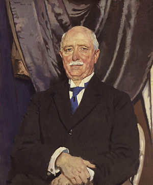 James Hamet Dunn - One of seventeen portraits by Sir William Orpen, which were commissioned by Dunn, of the settlors of the Treaty of Versailles at the Paris Peace Conference of 1919: William Ferguson Massey, at the time Premier of New Zealand.