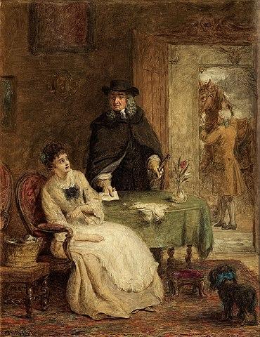 Свифт и Ванесса. Картина Уильяса Фрайта, 1881