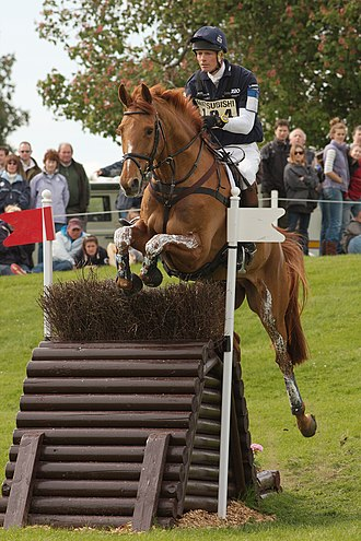 William Fox-Pitt - William Fox-Pitt and Idalgo at the Hillside during the cross-country phase of Badminton Horse Trials 2009.